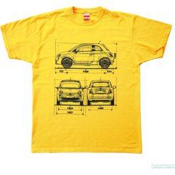 Koszulka FIAT 500 NEW YELLOW. Żółte t-shirty męskie z nadrukiem marki Mohito, l, z dzianiny. Za 77,00 zł.