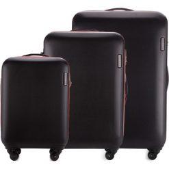 Zestaw walizek 56-3-61S-10. Czarne walizki marki Wittchen, z gumy, duże. Za 694,71 zł.
