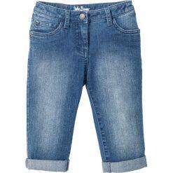 """Jeansy dziewczęce: Dżinsy rybaczki z wywiniętymi nogawkami bonprix niebieski """"stone"""""""