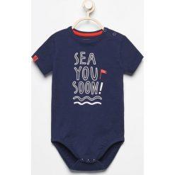 Body niemowlęce: Body z krótkim rękawem sea you soon – Granatowy