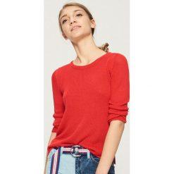 Sweter basic - Czerwony. Czerwone swetry klasyczne damskie marki Sinsay, l. Za 39,99 zł.