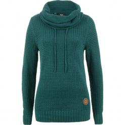 Sweter bonprix głęboki zielony. Zielone swetry klasyczne damskie bonprix. Za 89,99 zł.