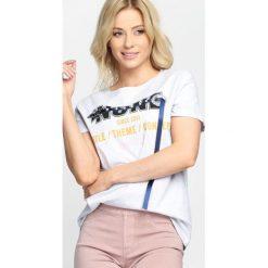 Szary T-shirt None. Szare bluzki damskie Born2be, l. Za 39,99 zł.