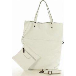 Torebka sacco XL skóra vera pelle MARCO MAZZINI - Alessia biała. Białe torebki worki MAZZINI, ze skóry, duże. Za 279,00 zł.