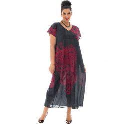 Sukienki: Sukienka w kolorze czarno-różowym