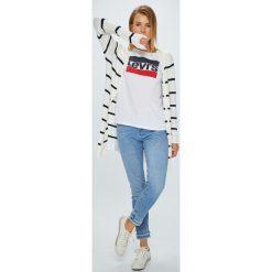 Levi's - Top The Perfect Tee Sportswear. Brązowe topy damskie marki Levi's®, l, z nadrukiem, z bawełny, z okrągłym kołnierzem. W wyprzedaży za 84,90 zł.