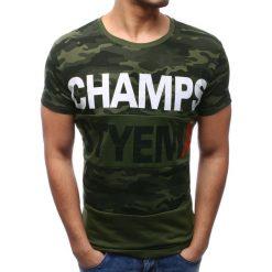 T-shirty męskie z nadrukiem: T-shirt męski z nadrukiem zielony (rx2774)