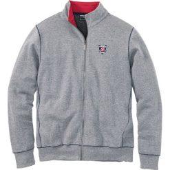 Bluza rozpinana Regular Fit bonprix szary melanż. Szare bluzy męskie rozpinane marki TARMAK, m, z bawełny, z kapturem. Za 59,99 zł.