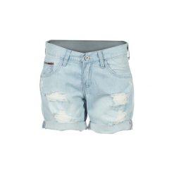 Szorty i Bermudy  Tommy Jeans  BOYFRIEND SHORT ALCDE. Niebieskie bermudy damskie Tommy Jeans, z jeansu. Za 307,30 zł.