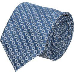 Krawat platinum niebieski classic 209. Niebieskie krawaty męskie Recman, z tkaniny, eleganckie. Za 49,00 zł.