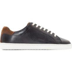 Trampki męskie: Skórzane buty sportowe na sznurówki Wafer