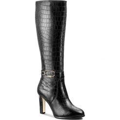 Kozaki GINO ROSSI - Vicenza DKG224-G58-TG00-9900-F Czarny 99. Czarne buty zimowe damskie Gino Rossi, z materiału, na obcasie. W wyprzedaży za 479,00 zł.