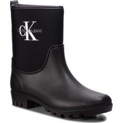 Kalosze CALVIN KLEIN JEANS - Philippa RE9811 Black. Czarne buty zimowe damskie Calvin Klein Jeans, z jeansu. Za 509,00 zł.