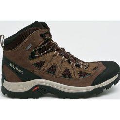 Salomon - Buty Authentic Ltr GTX. Czarne buty trekkingowe męskie Salomon, z gore-texu, na sznurówki, outdoorowe, gore-tex. W wyprzedaży za 499,90 zł.