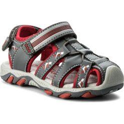 Sandały męskie skórzane: Sandały WALKY – CM0917-1 Szary