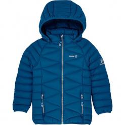 Kurtka w kolorze turkusowym. Niebieskie kurtki dziewczęce puchowe marki Kamik, z puchu. W wyprzedaży za 215,95 zł.