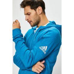 Adidas Performance - Bluza. Niebieskie bluzy męskie rozpinane adidas Performance, l, z bawełny, z kapturem. Za 299,90 zł.