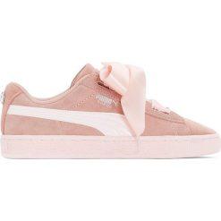 Trampki Jr Suede Heart Jewel. Czerwone buty sportowe dziewczęce marki Puma, z materiału, na sznurówki. Za 356,96 zł.