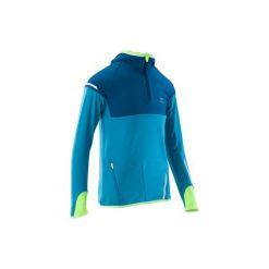 Bluza KIPRUN WARM. Niebieskie bluzy chłopięce rozpinane KALENJI, z długim rękawem, długie. Za 69,99 zł.