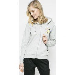 Trussardi Jeans - Bluza. Szare bluzy sportowe damskie marki Trussardi Jeans, m, z aplikacjami, z bawełny, bez kaptura. W wyprzedaży za 239,90 zł.