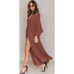 Długie sukienki: NA-KD Boho Sukienka-płaszcz - Red