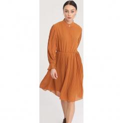 Camelowa Sukienka Bottom Line. Brązowe sukienki mini marki other, uniwersalny. Za 119,99 zł.