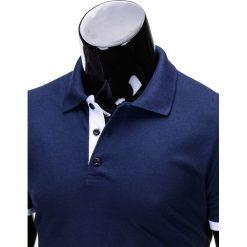 KOSZULKA MĘSKA POLO BEZ NADRUKU S758 - GRANATOWA. Niebieskie koszulki polo Ombre Clothing, m, z nadrukiem. Za 39,00 zł.