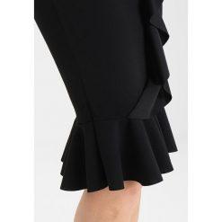Sukienki hiszpanki: Missguided BODYCON FRILL DETAIL MIDI DRESS  Sukienka koktajlowa black