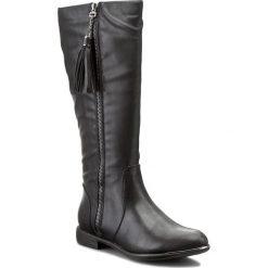 Oficerki JENNY FAIRY - WYL13102815 Czarny. Czarne buty zimowe damskie Jenny Fairy, ze skóry ekologicznej, na obcasie. W wyprzedaży za 97,99 zł.