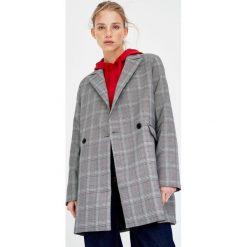 Kurtki i płaszcze damskie: Dwurzędowy płaszcz w kratkę