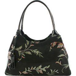 Torebki klasyczne damskie: Skórzana torebka w kolorze czarnym – (S)38 x (W)15 x (G)22 cm