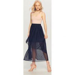 Długie spódnice: Plisowana spódnica maxi - Beżowy