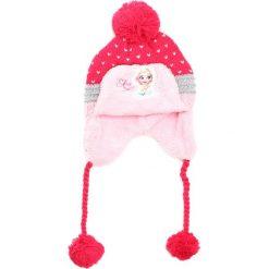 Ciemnoróżowa Czapka Hello. Czerwone czapeczki niemowlęce marki Born2be, na jesień. Za 24,99 zł.