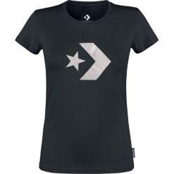 Converse Star Chevron Metallic Crew Tee Koszulka damska czarny. Czarne bluzki z odkrytymi ramionami Converse, xxl, z nadrukiem, retro, z okrągłym kołnierzem. Za 79,90 zł.