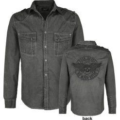 Rock Rebel by EMP Captain Fantastic And The Dirty Cowboy Koszula ciemnoszary (Anthracite). Czarne koszule męskie na spinki marki Leonardo Carbone, s, z materiału, z długim rękawem. Za 184,90 zł.