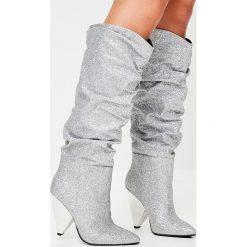 Missguided - Kozaki. Szare buty zimowe damskie marki Missguided, z materiału. W wyprzedaży za 179,90 zł.