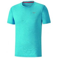 Mizuno Koszulka Impulse Core Tee Diva Blue Mel M. Niebieskie koszulki do fitnessu męskie Mizuno, l, z krótkim rękawem. W wyprzedaży za 85,00 zł.
