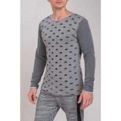 Jasnoszary Sweter M3021. Czarne swetry klasyczne męskie marki Fasardi, m, z dresówki. Za 81,75 zł.