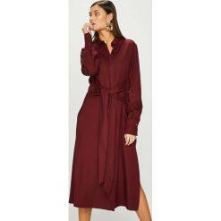 Answear - Sukienka Heritage. Szare sukienki ANSWEAR, na co dzień, l, z lyocellu, casualowe, z długim rękawem, maxi, proste. W wyprzedaży za 179,90 zł.