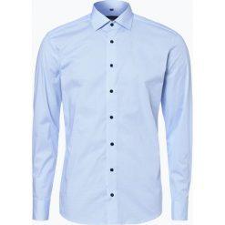 Koszule męskie na spinki: Eterna Slim Fit - Koszula męska łatwa w prasowaniu, niebieski