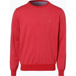 Swetry klasyczne męskie: Fynch Hatton – Sweter męski, czerwony