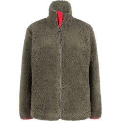 Bluza z polaru baranka bonprix ciemnooliwkowy. Zielone bluzy polarowe bonprix. Za 89,99 zł.