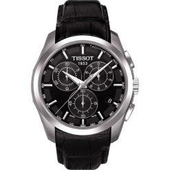 PROMOCJA ZEGAREK TISSOT T- CLASSIC COUTURIER QUARTZ T035.617.16.051.00. Czarne zegarki męskie marki TISSOT, ze stali. W wyprzedaży za 1575,20 zł.