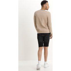 Topman PIMPLE CREW   Sweter stone. Szare swetry klasyczne męskie Topman, m, z bawełny. Za 189,00 zł.