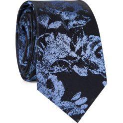 Krawat jedwabny KWWR000356. Czarne krawaty męskie Giacomo Conti, z jedwabiu, eleganckie. Za 129,00 zł.