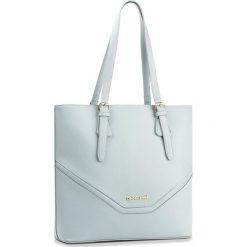Torebka MONNARI - BAG2200-012 Blue. Brązowe torebki klasyczne damskie marki Monnari, w paski, z materiału, średnie. W wyprzedaży za 139,00 zł.