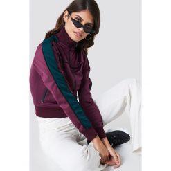 NA-KD Bluza sportowa z suwakiem - Purple. Fioletowe bluzy sportowe damskie NA-KD, w paski, z poliesteru. Za 202,95 zł.