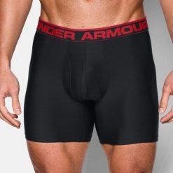 Majtki męskie: Under Armour Bokserki męskie O Series 6″ BoxerJock 2pack czarno-czerwone r. XL (1282508 001)