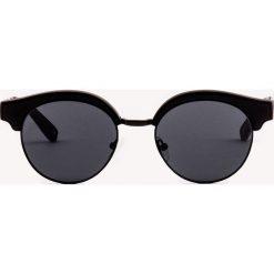 Okulary przeciwsłoneczne damskie aviatory: Le Specs Okulary przeciwsłoneczne Luxe Cleopatra - Black