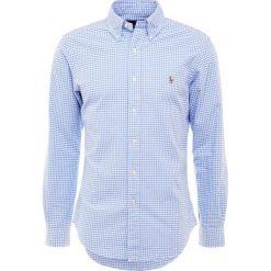 Polo Ralph Lauren OXFORD SLIM FIT Koszula steel blue. Szare koszule męskie slim marki Polo Ralph Lauren, l, z bawełny, button down, z długim rękawem. Za 419,00 zł.